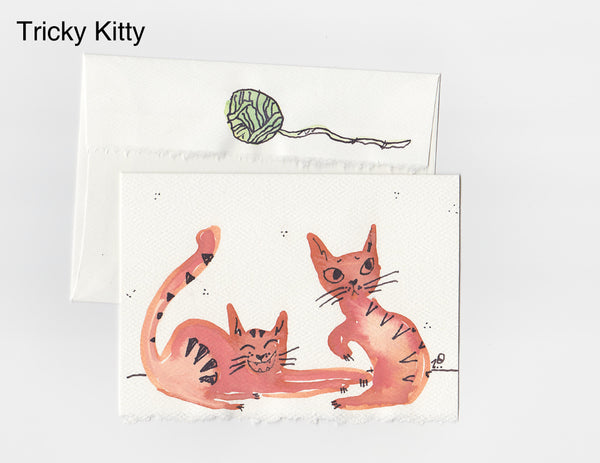 Tricky Kitty Note Card + Envelope