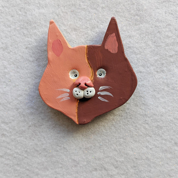 Two Tone Cat Magnet