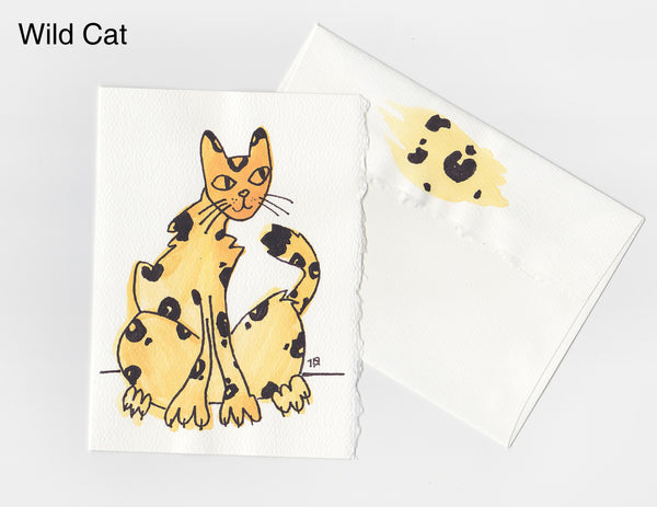 Wild Cat Note Card + Envelope