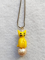 Yellow Cat Necklace