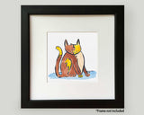 Calico Cat Frameable Art