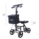 HFK-9225-2 Best Value Walker Steerable Medical Scooter Crutch Alternative with Dual Braking System