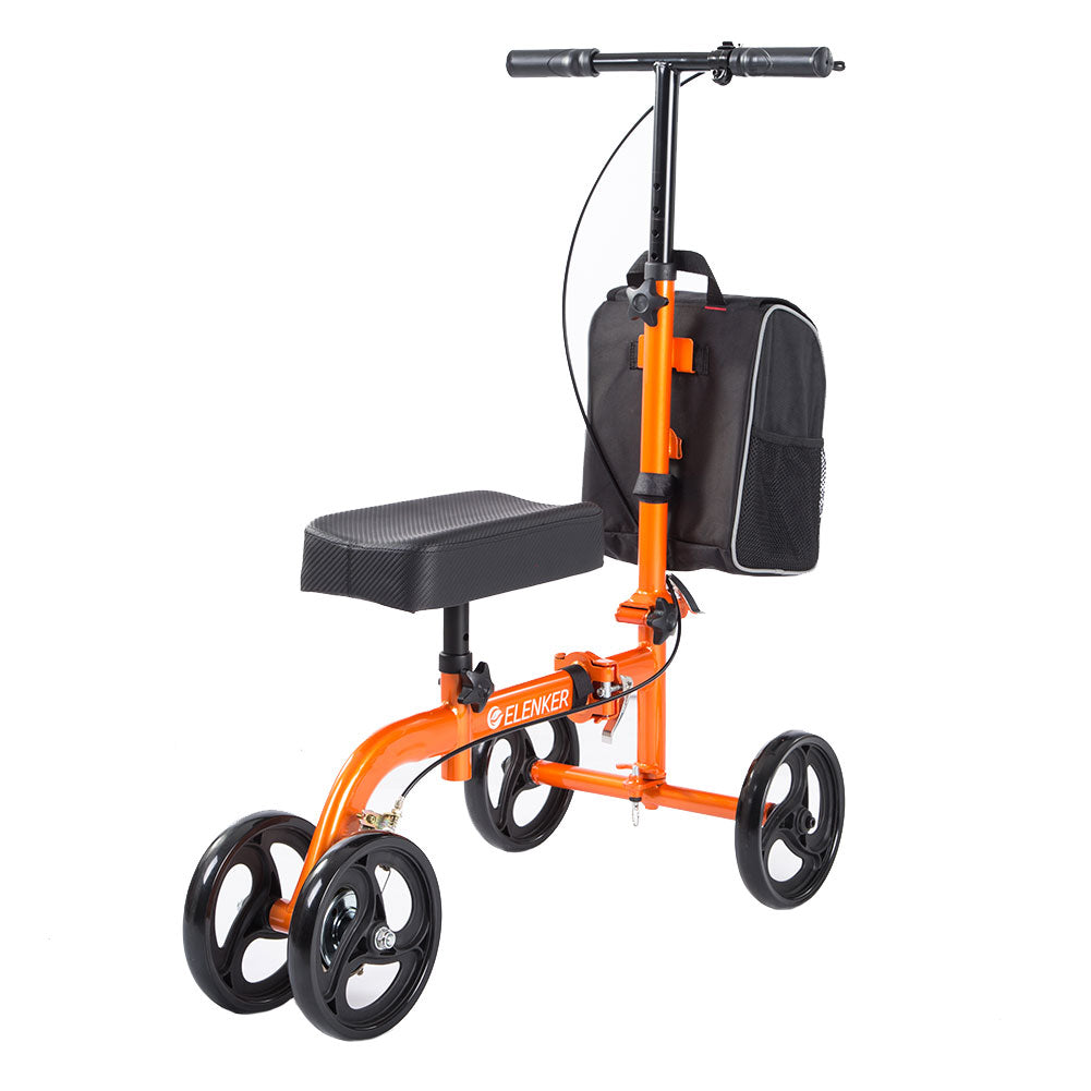 HFK-9270 Steerable Knee Scooter for Foot Injuries Ankles Surgery with Comfortable Soft Knee Pad and Multifunctional