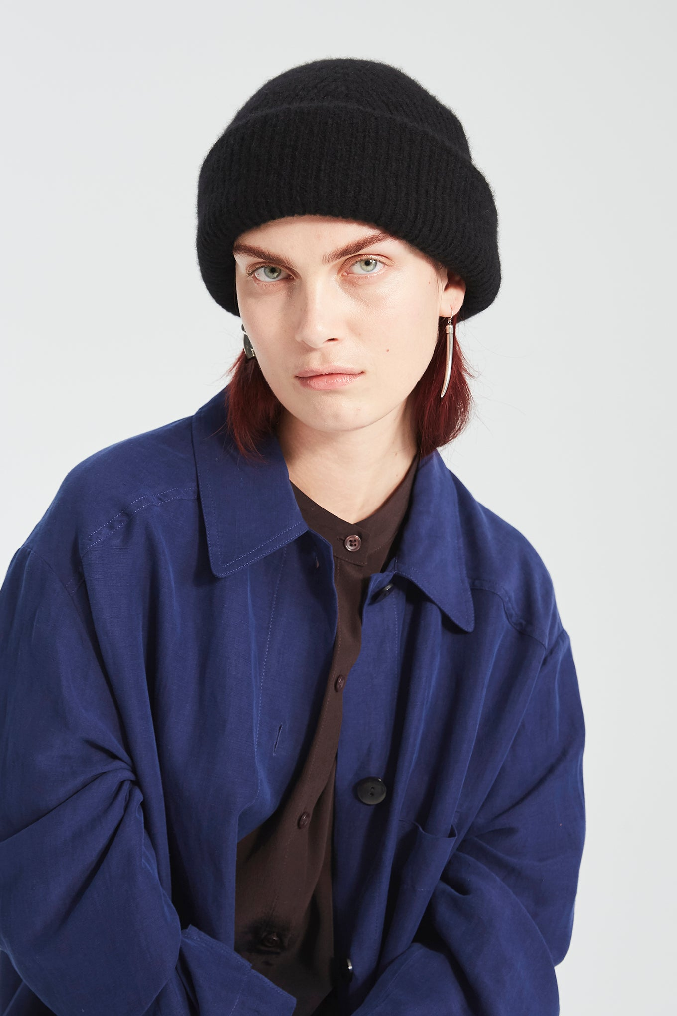 Atlas Beanie - Black - Silk/Cashmere