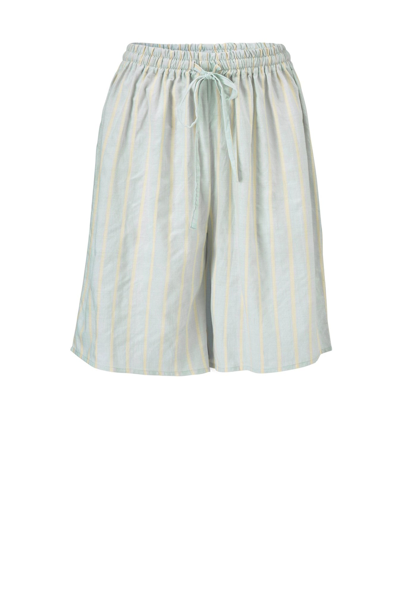 Bea Shorts - Blue/Yellow Stripe - Silk/Cotton