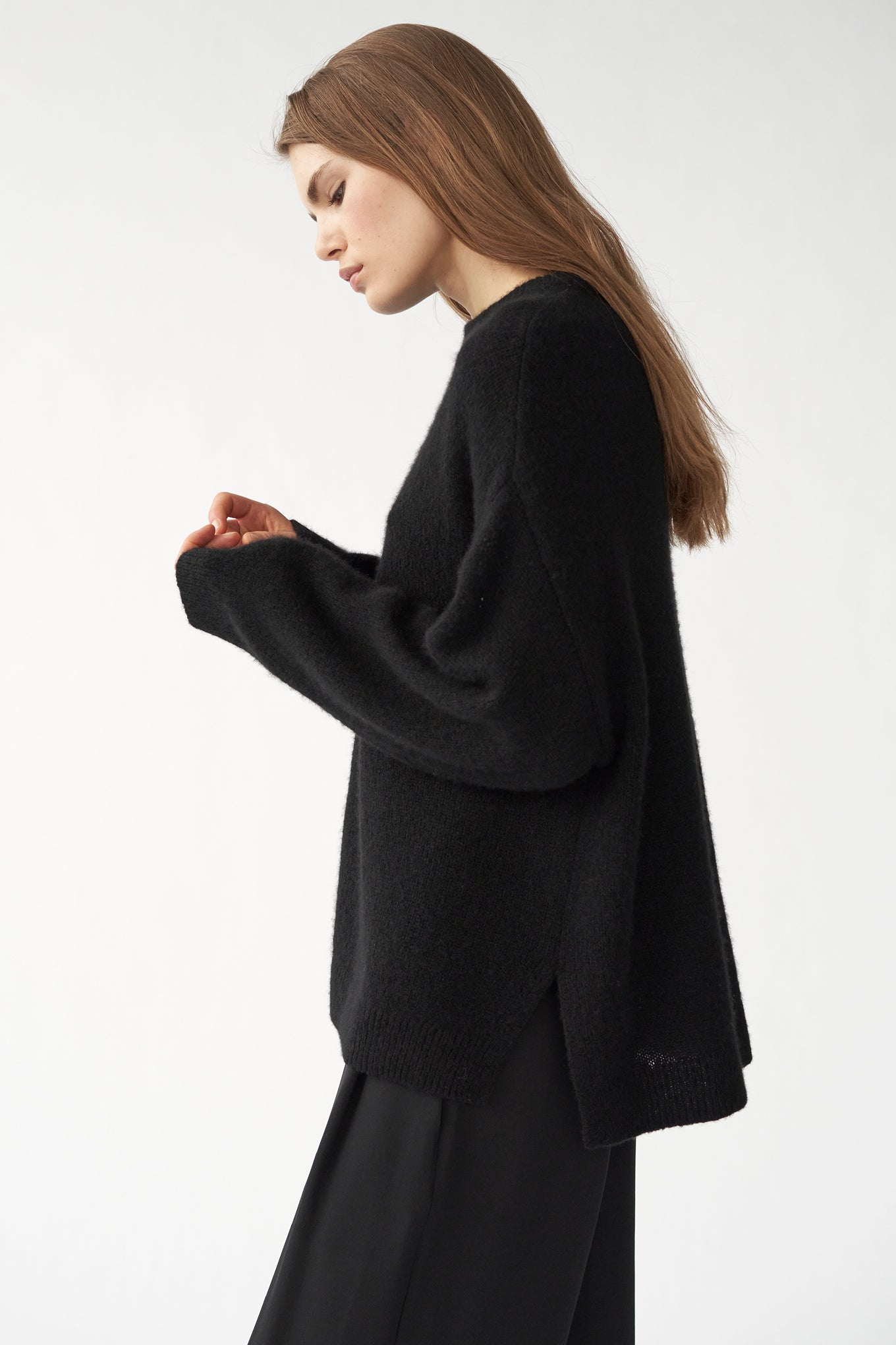 Bez Crew Knit - Black - Silk/Cashmere