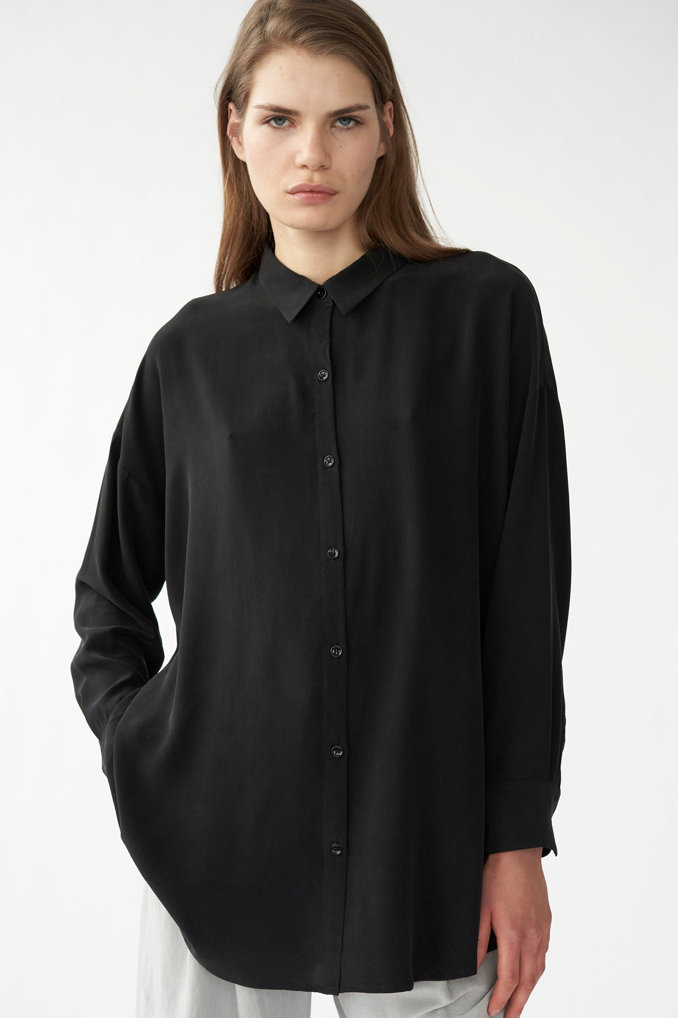 BIANCA LS SHIRT - BLACK