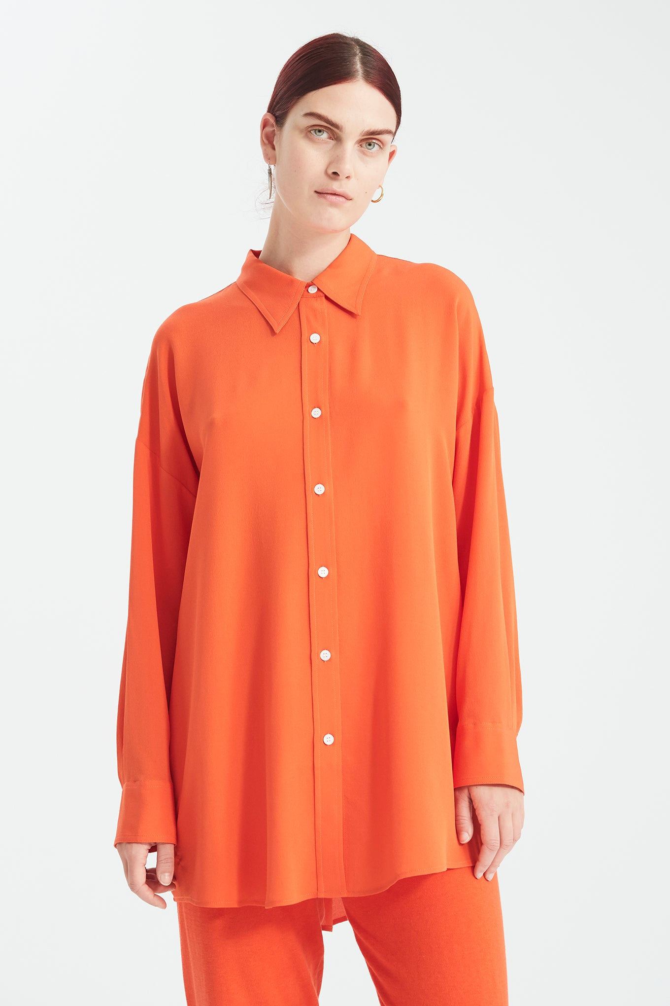 Bianca 70s Shirt - Bright Orange