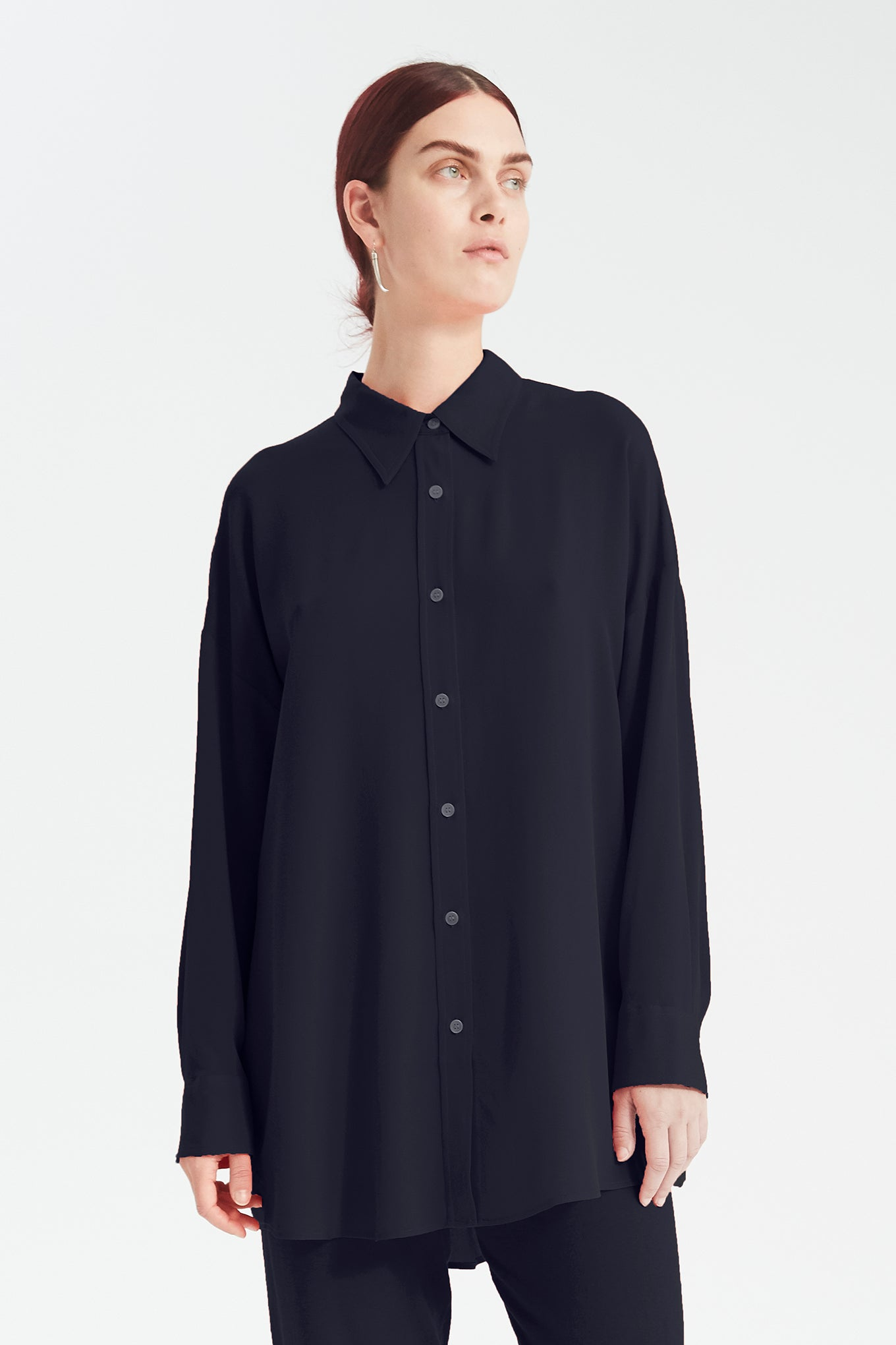 Bianca 70s Shirt - Navy