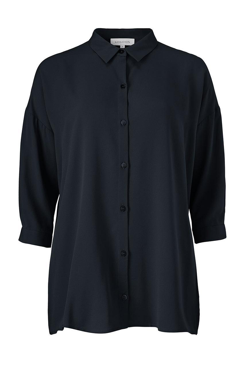 BIANCA STRAIGHT SHIRT - NAVY