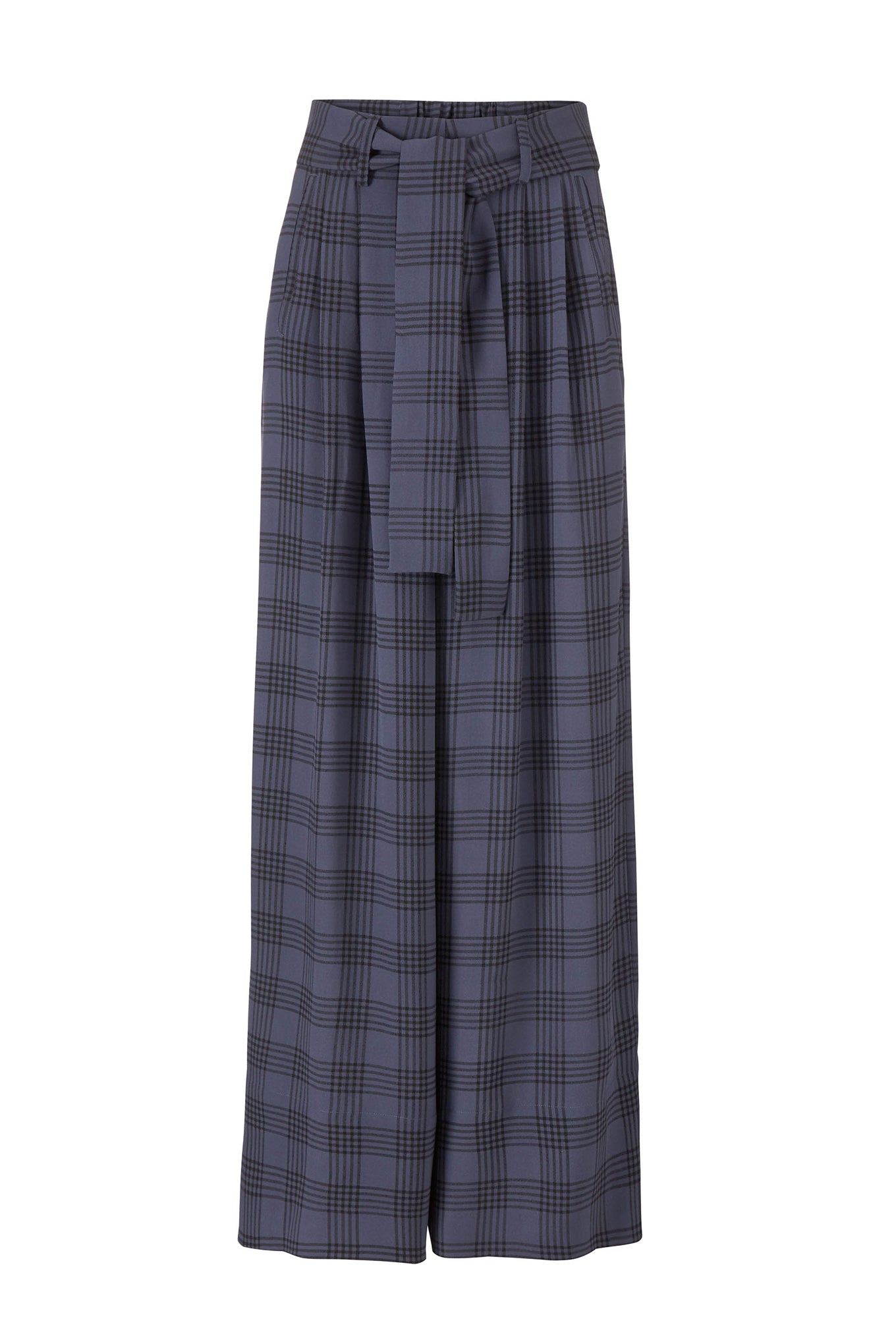BOBBY PANTS - CROWN BLUE/BLACK CHECK