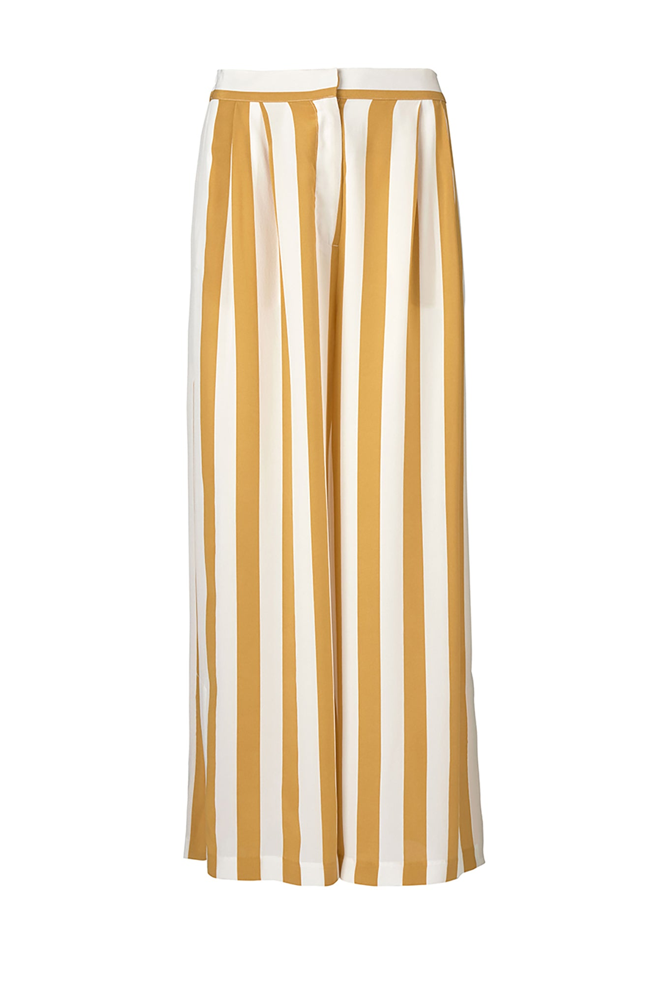 CECCO SLIT PANTS - HONEY/WHITE STRIPE