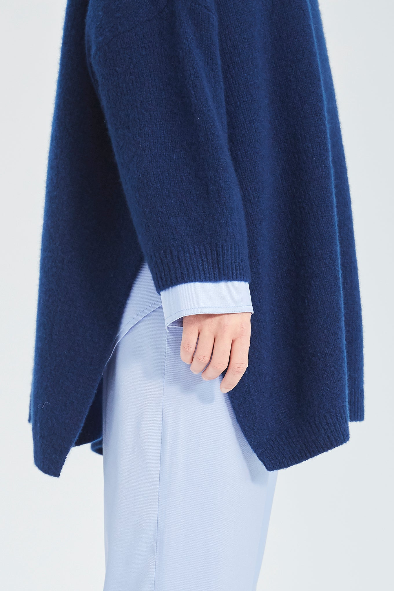 Dean Knit - Mao Blue - Silk/Cashmere