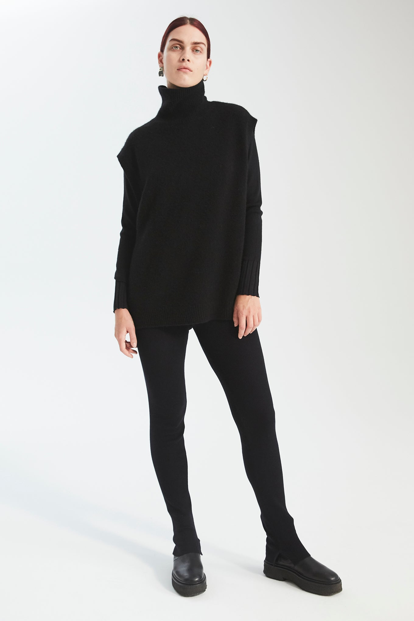Dex Knit Leggings - Black - Silk/Wool