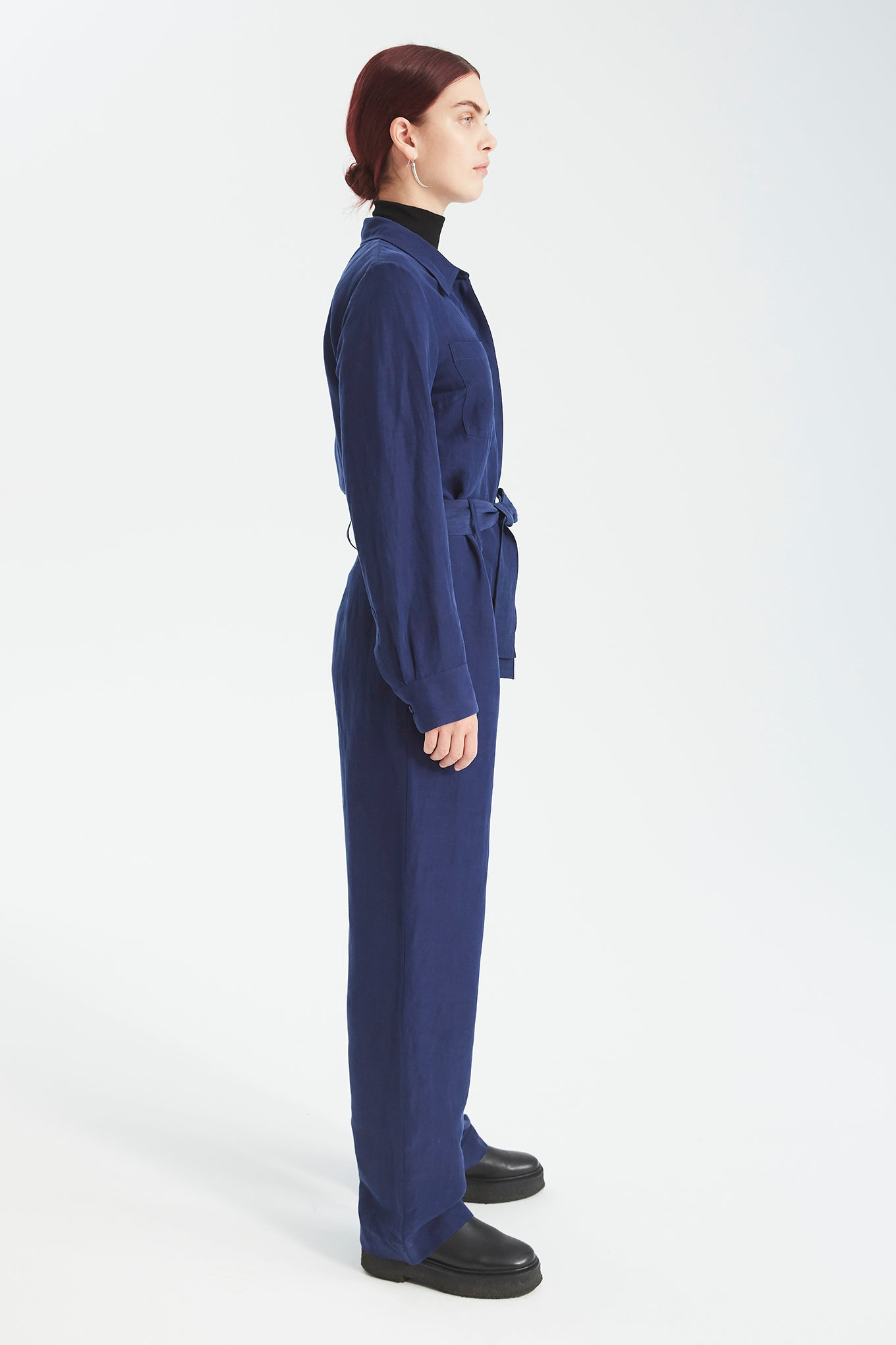 Diego Jumpsuit - Mao Blue - Silk/Linen