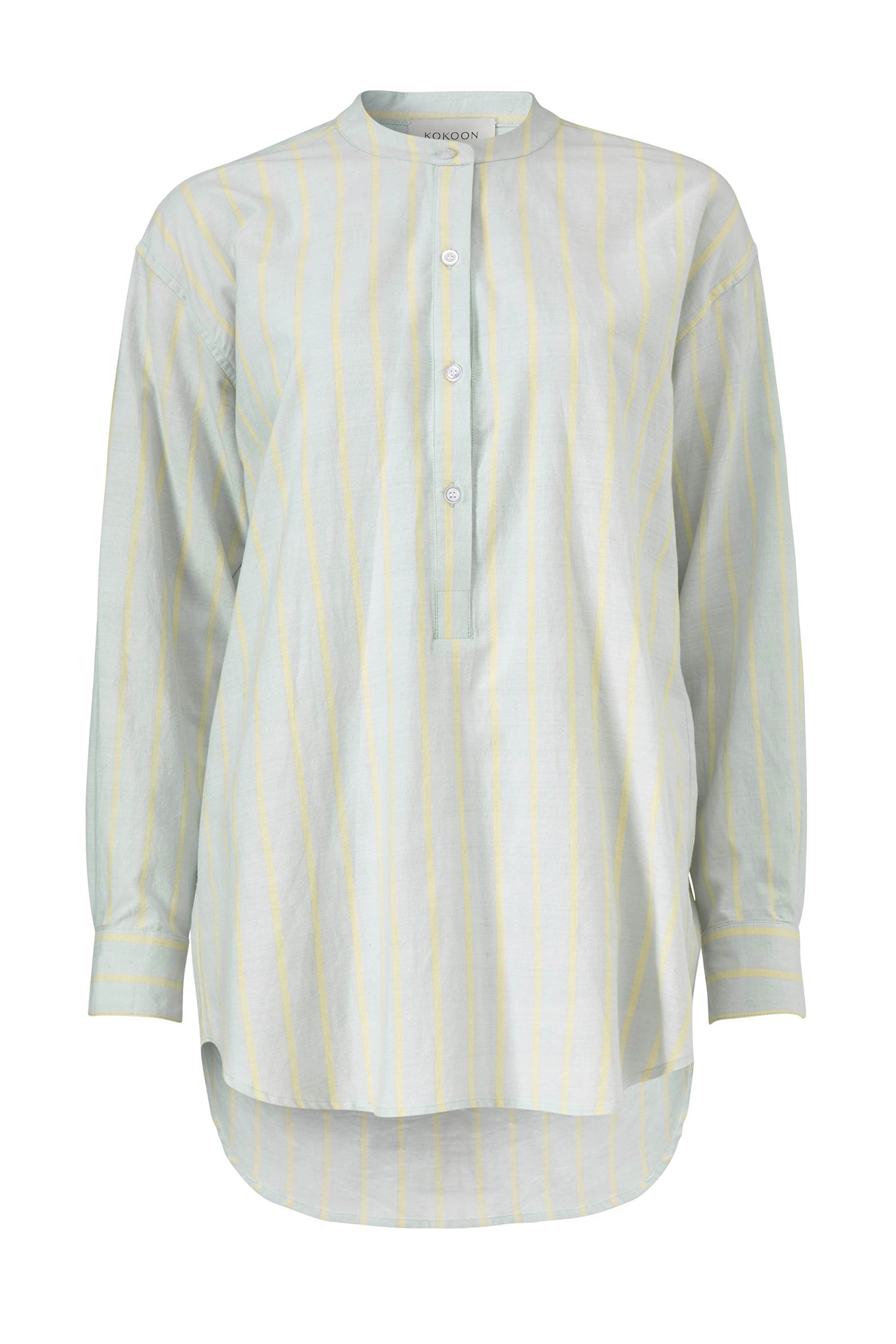Elvin Shirt - Blue/Yellow Stripe - Cotton/Silk