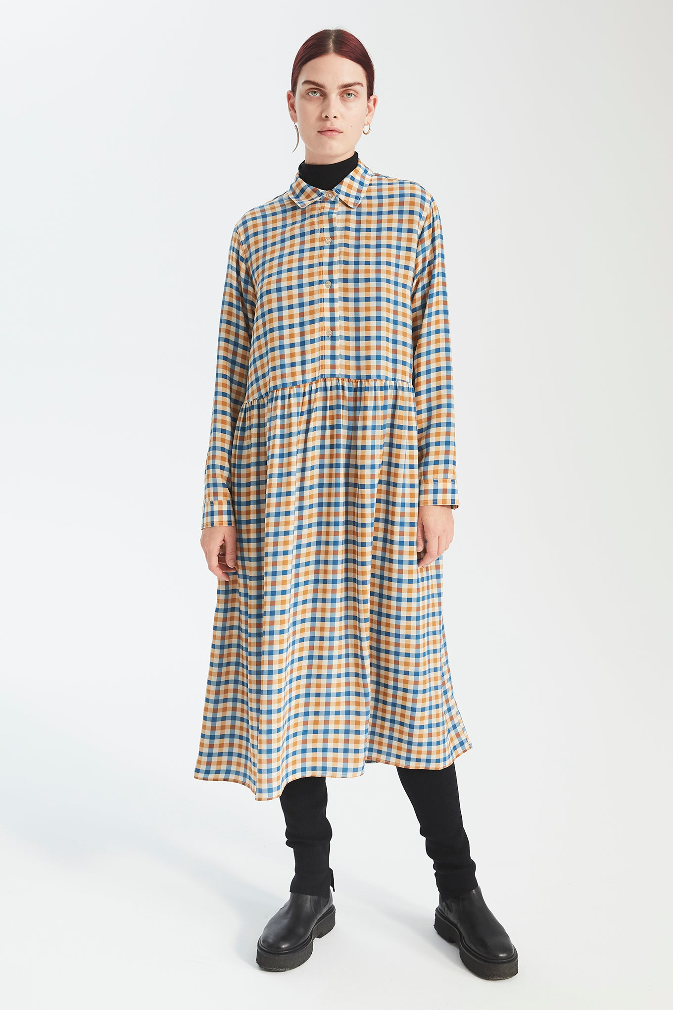 Ezra Dress - Tricolour Check