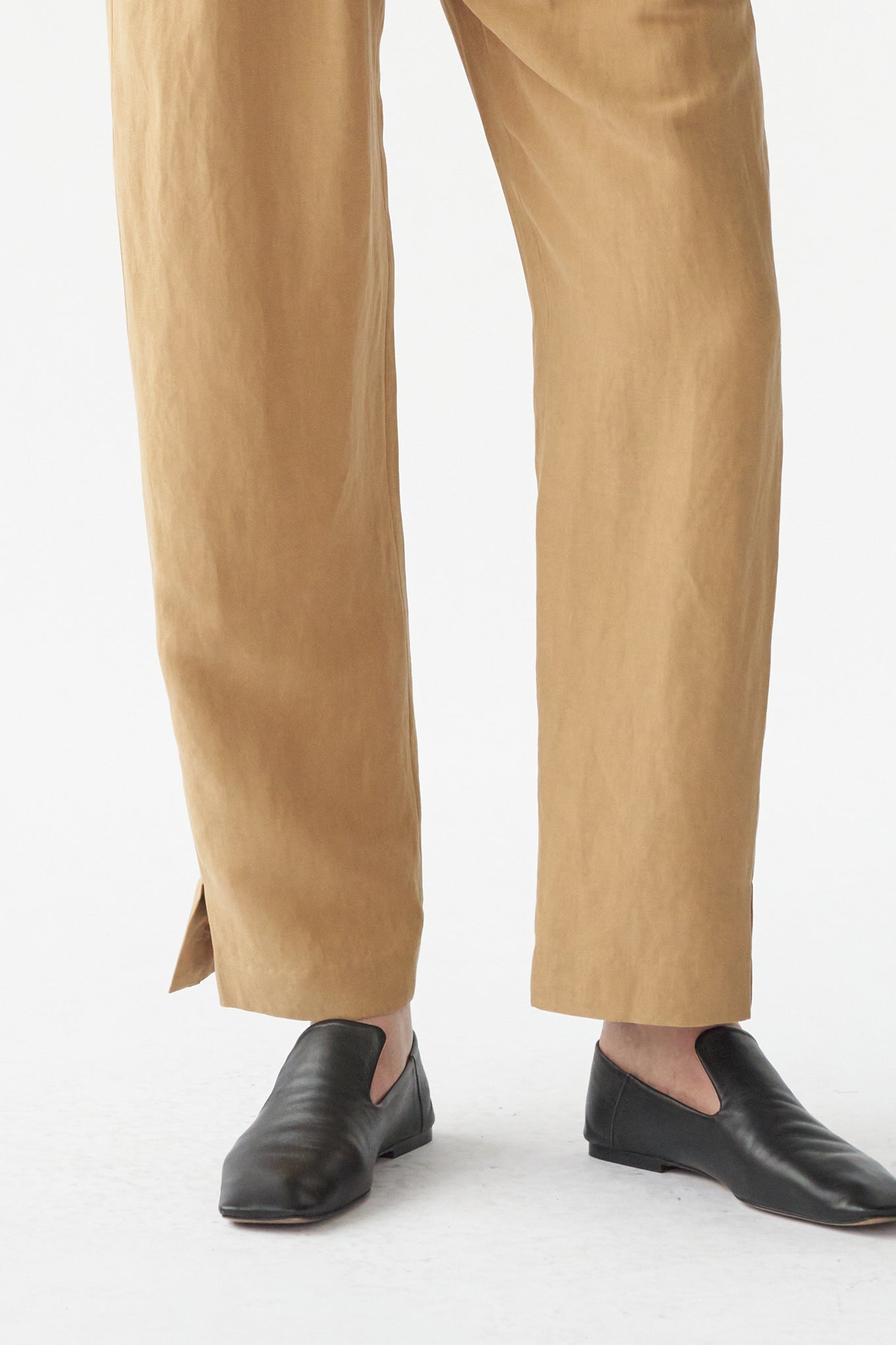 HARRY PANTS - DESERT SAND - SILK/LINEN