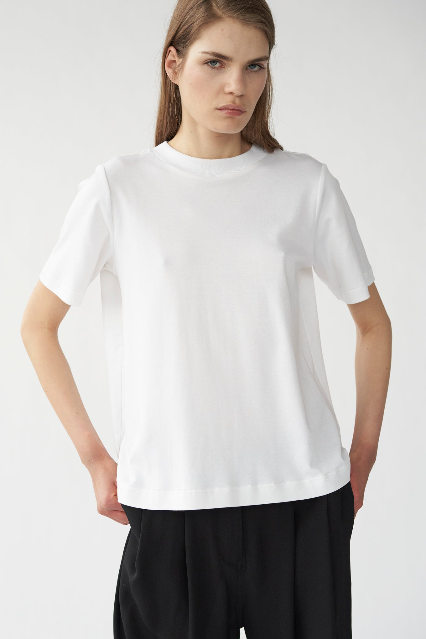 HAZE TEE - WHITE - SILK/COTTON JERSEY