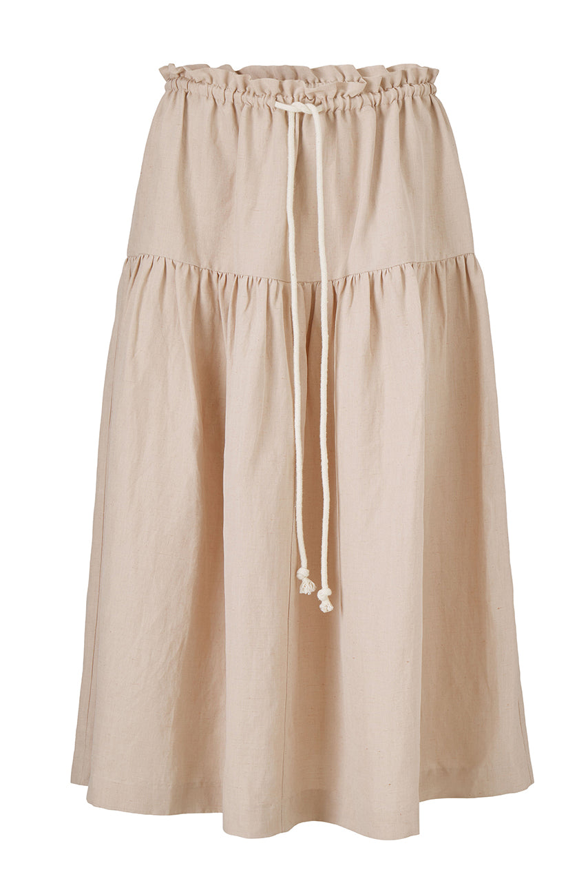 ISA SKIRT - ANTIQUE ROSE - SILK/LINEN