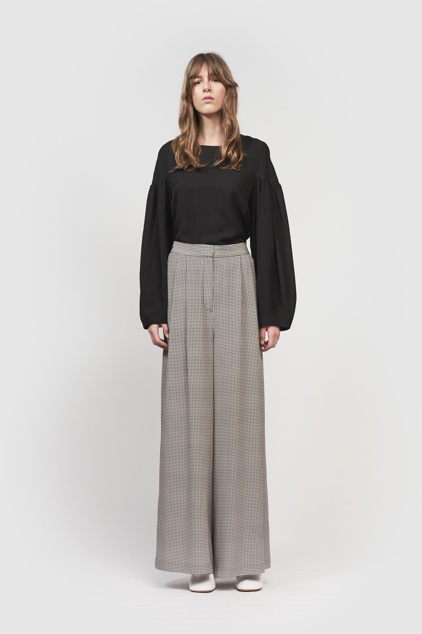 CECCO LONG PANTS - HOUNDSTOOTH PRINT