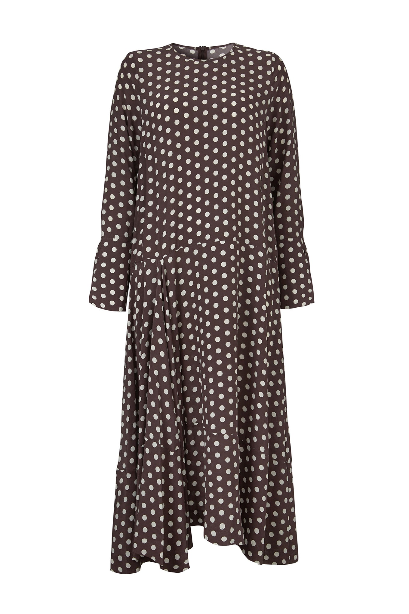 KAI DRESS - DARK CHOCOLATE/WHITE DOT