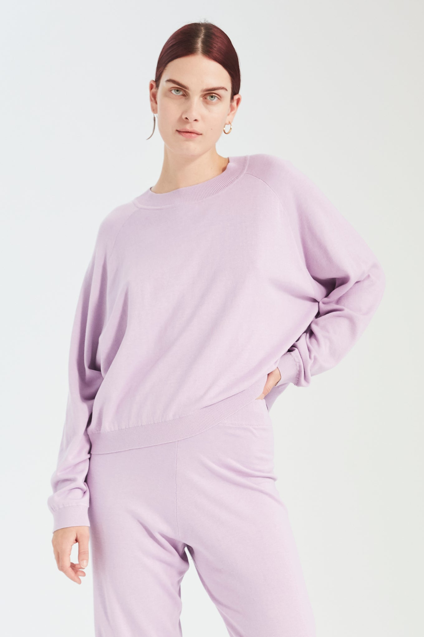 Kelly Knit - Violet - Silk/Cotton