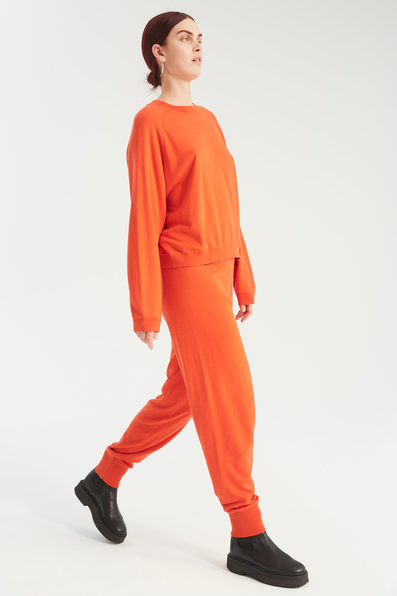 Kelly Knit - Bright Orange - Silk/Cotton