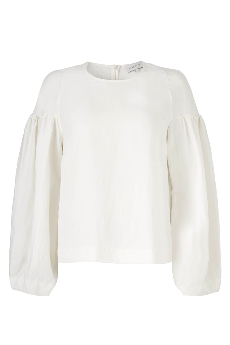 DUNA BLOUSE - OFF WHITE - SILK/LINEN