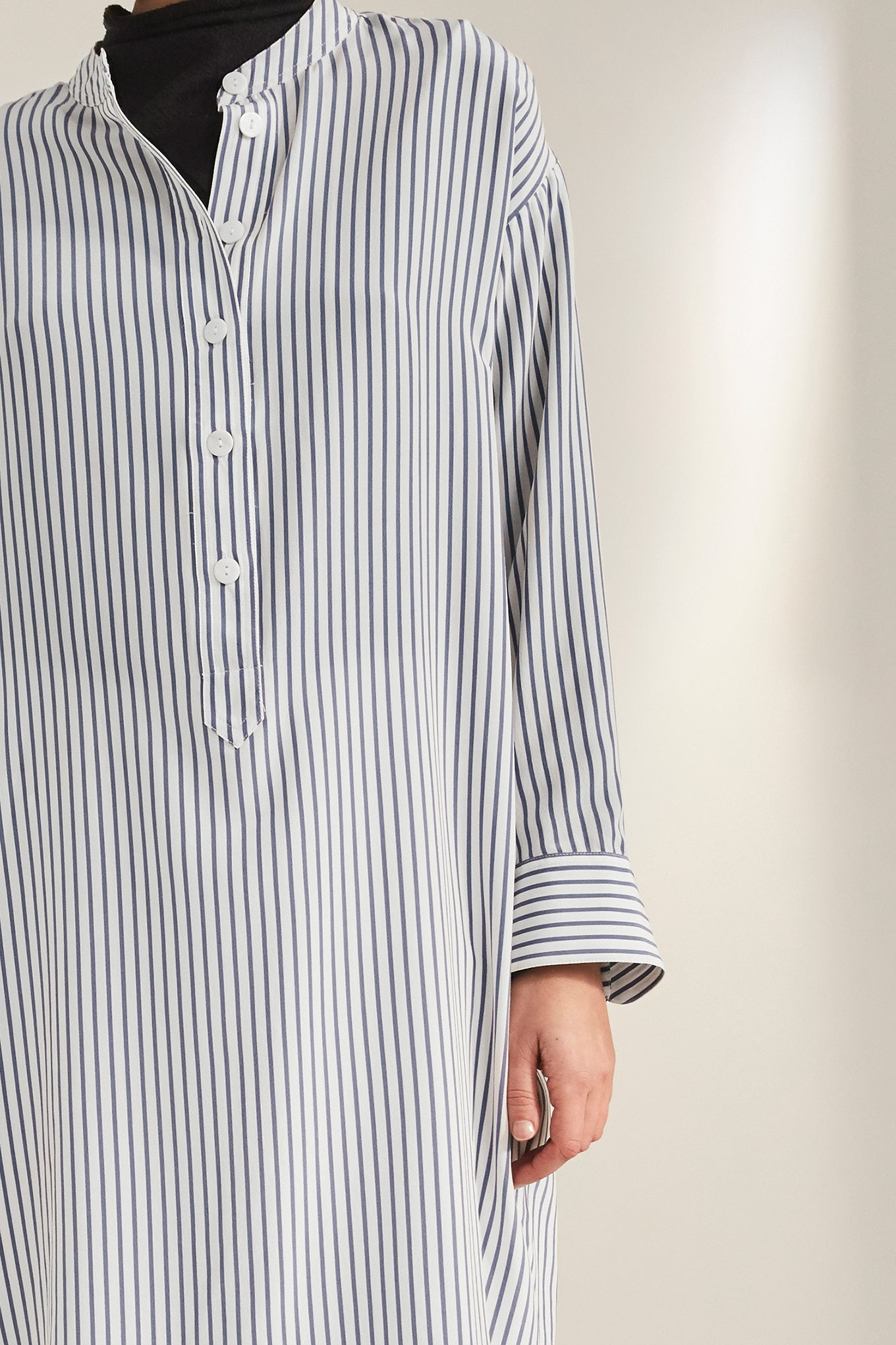 Bella LS Tunic - Blue Stripe