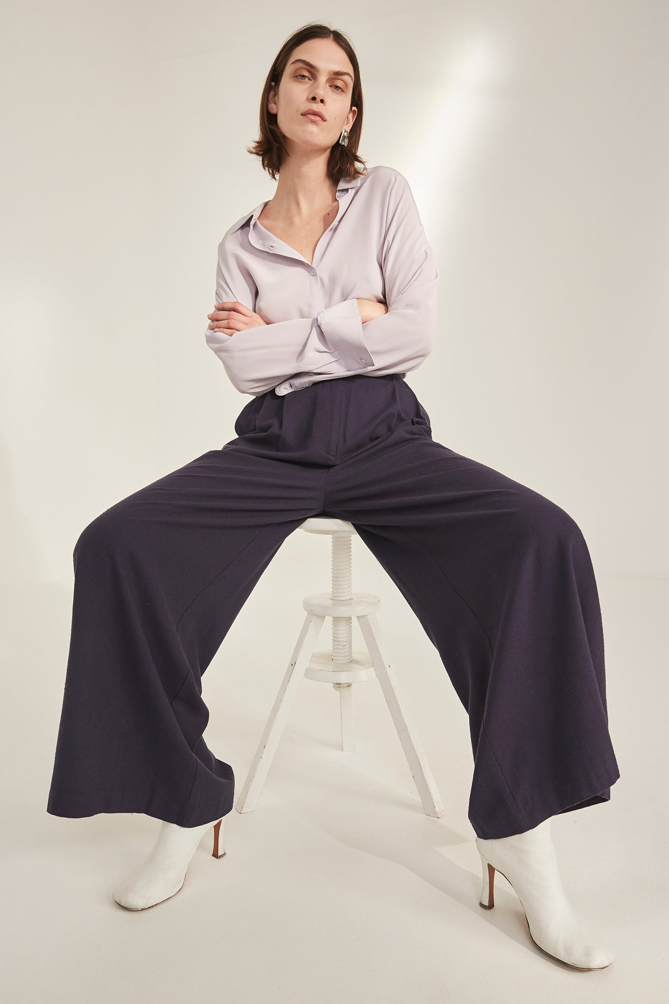 Cecco Pants - Graystone - Raw Silk