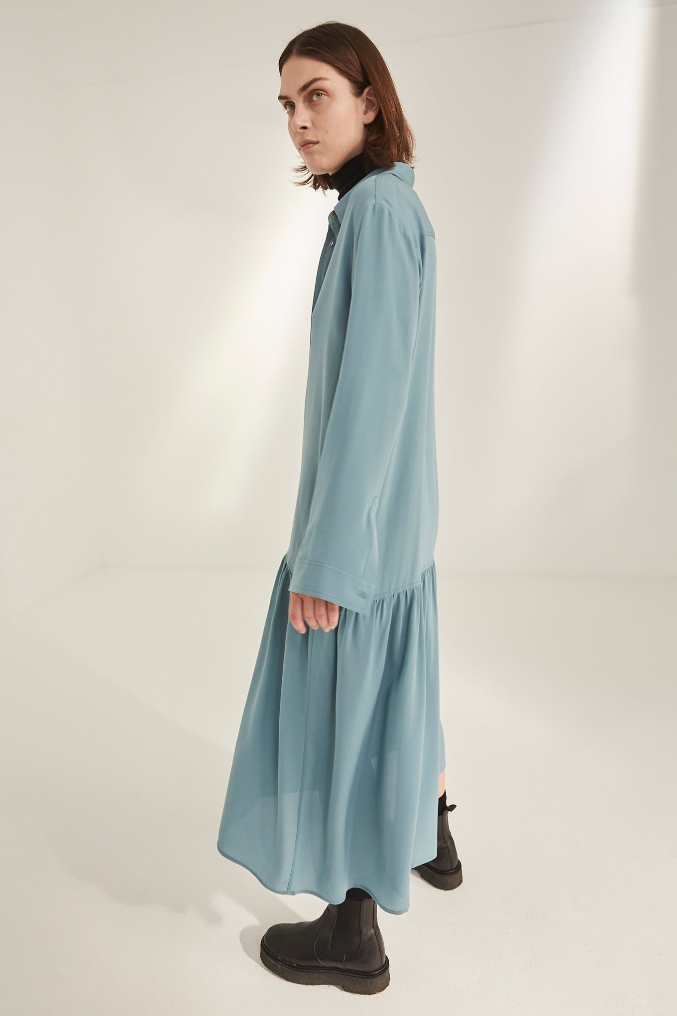 Eika Dress - Smoke Blue
