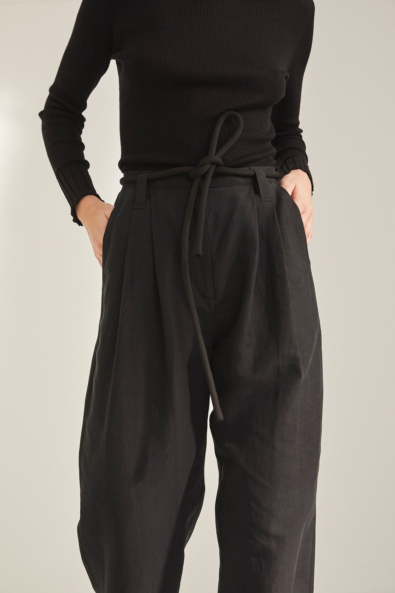 Harry Pants - Black - Silk/Linen