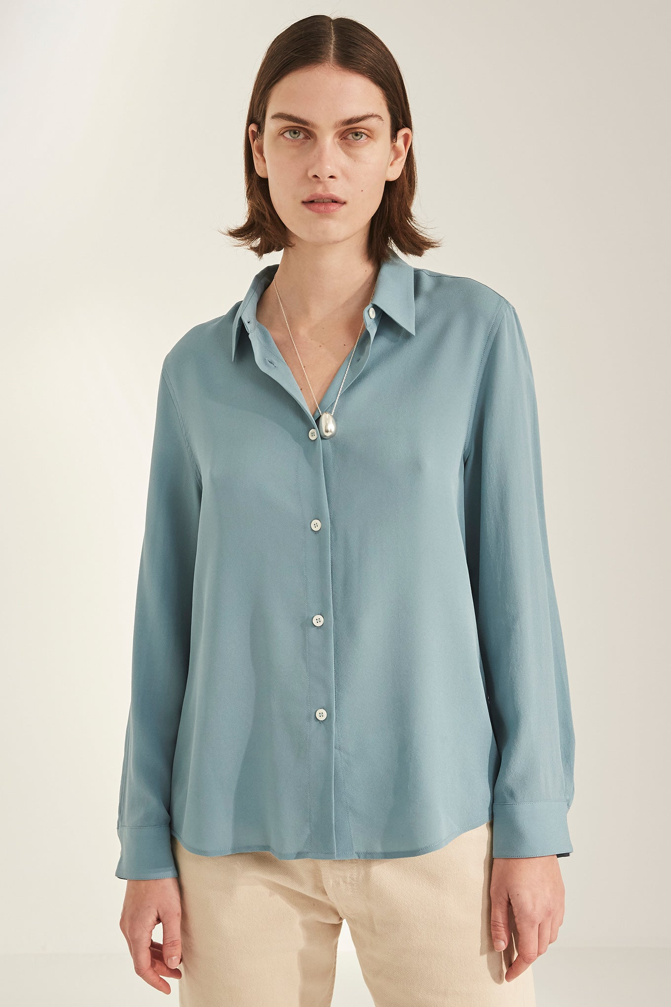 Sonja Shirt - Smoke Blue