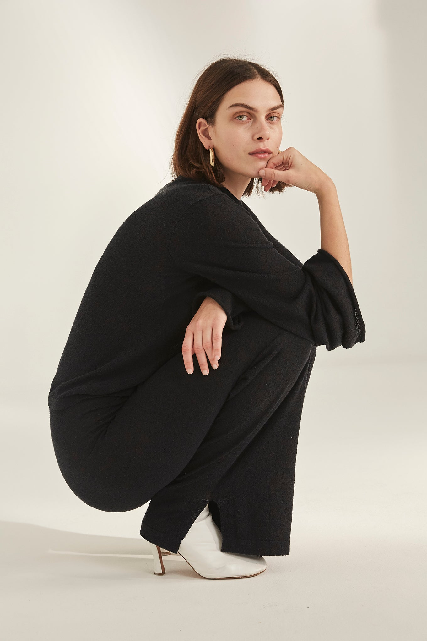 Stella Knit Pant - Black - Silk/Knit