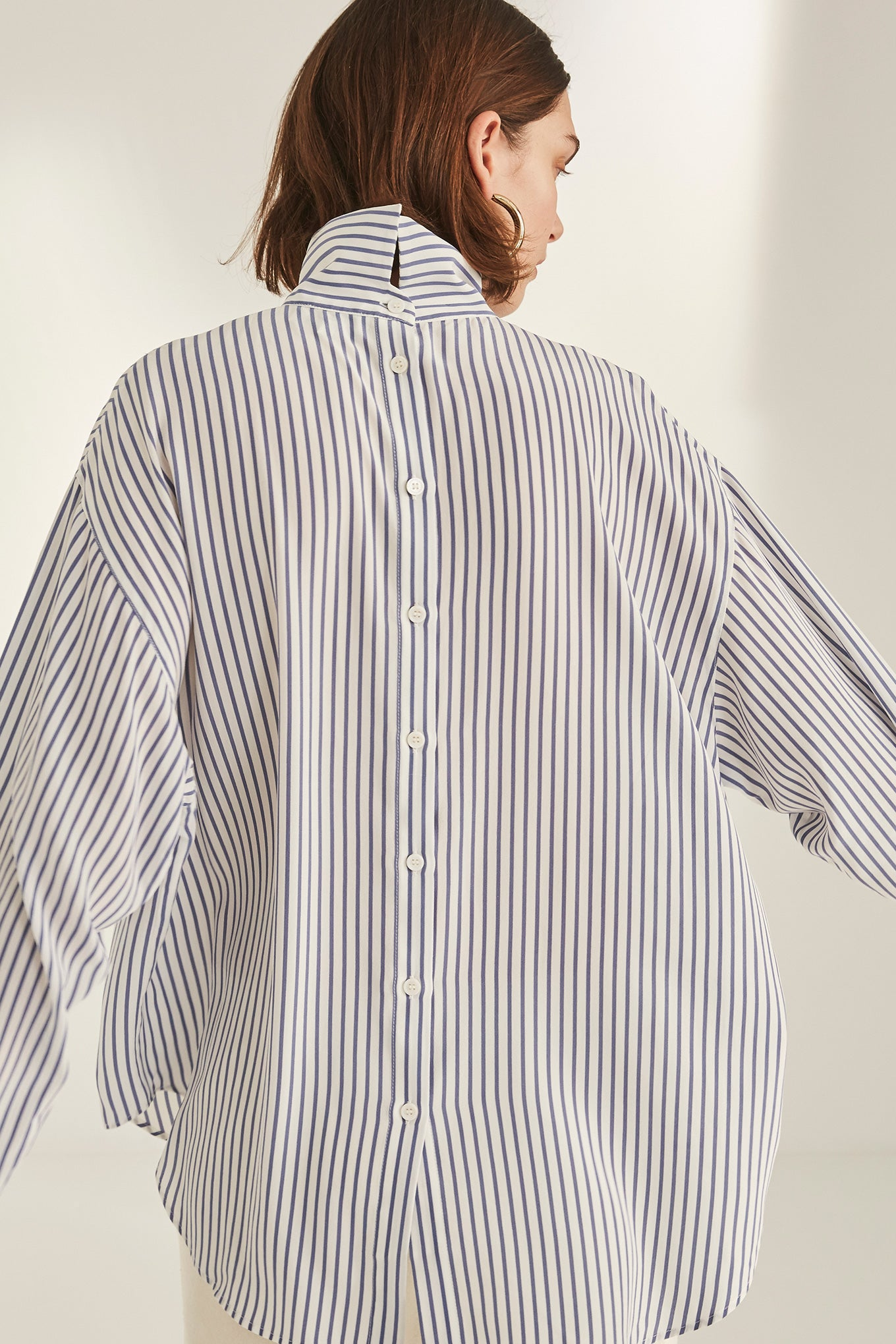 Valli Blouse - Blue Stripe