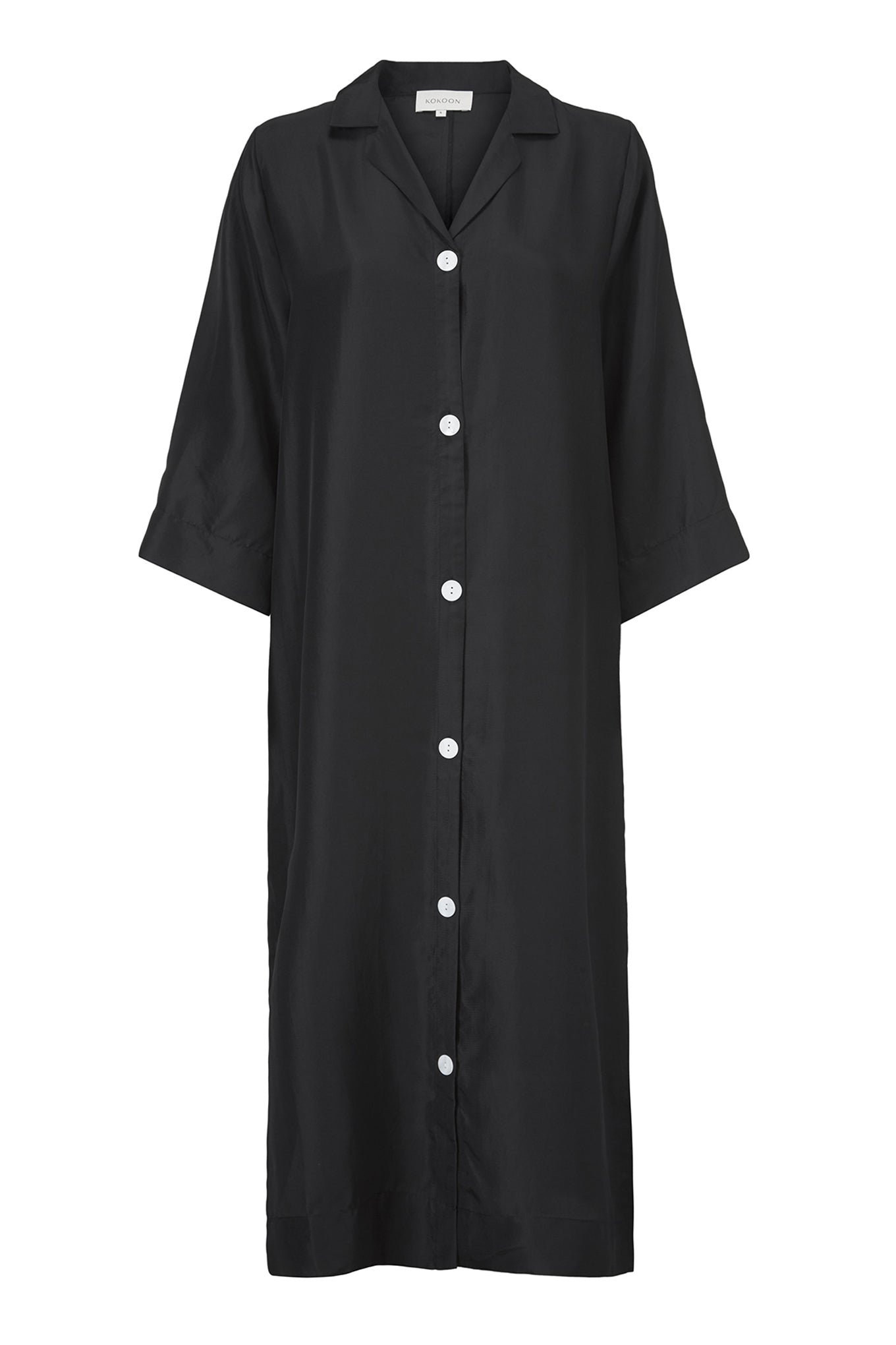 Barney Shirt Dress - Black