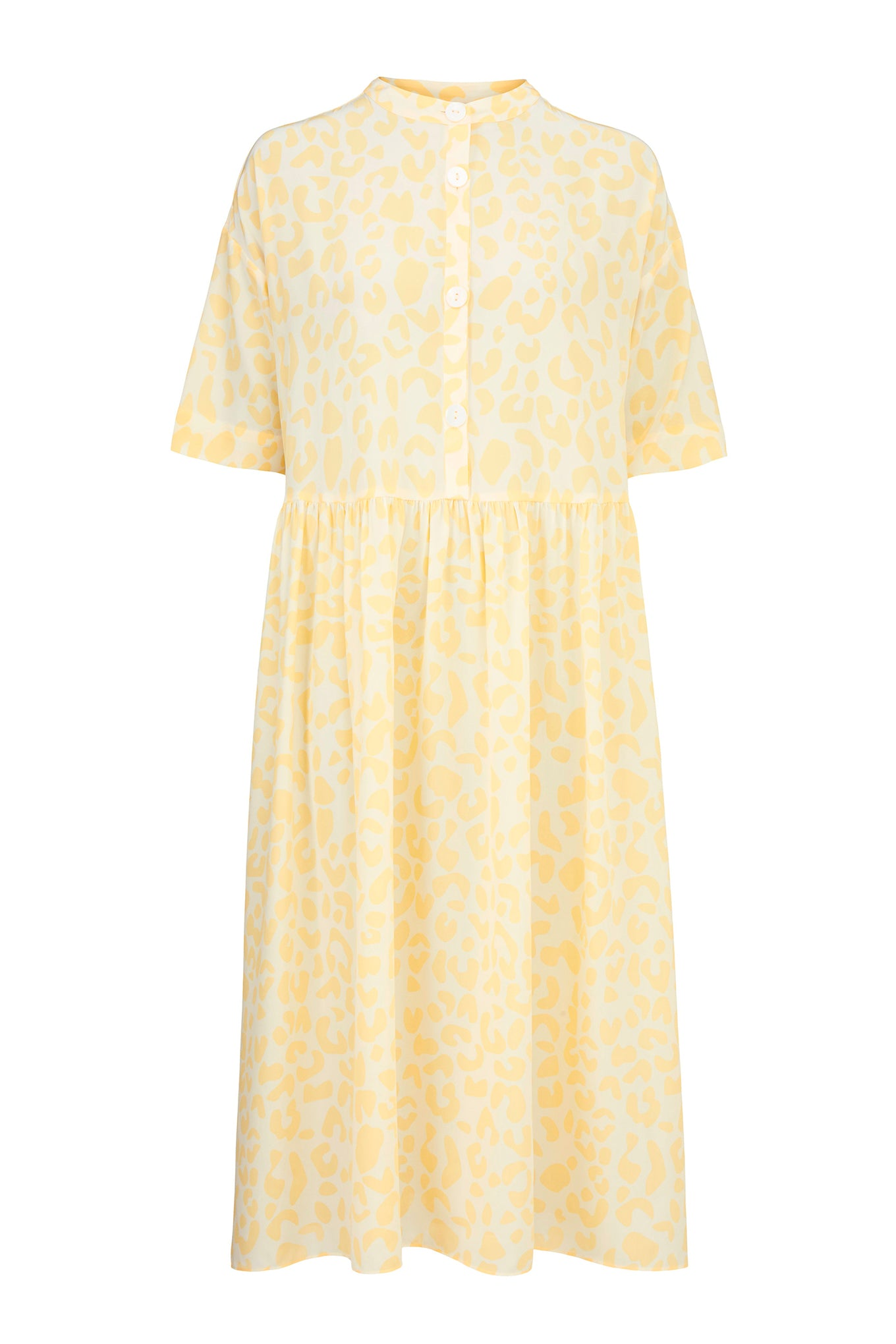 Blake Dress - Yellow Leo