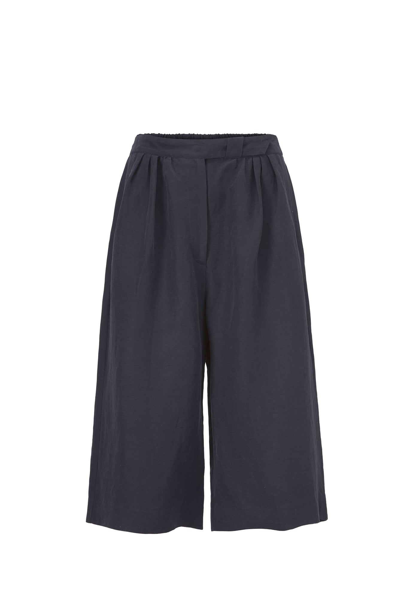 Cano Shorts - Navy - Silk/Linen