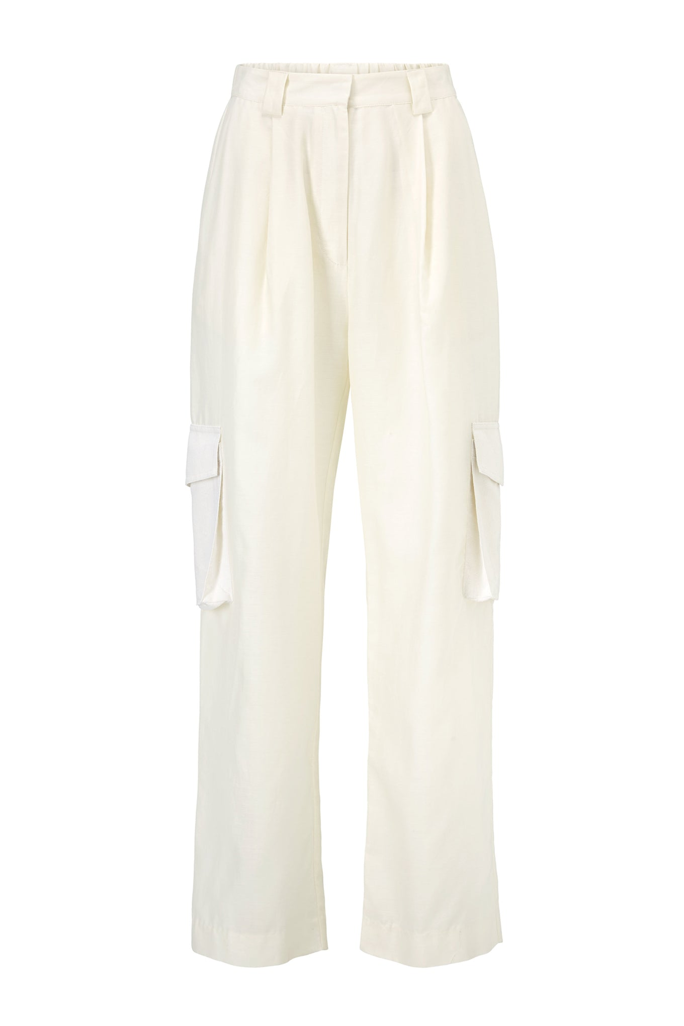 Sue Pants - Cream/White - Silk & Silk/Cotton