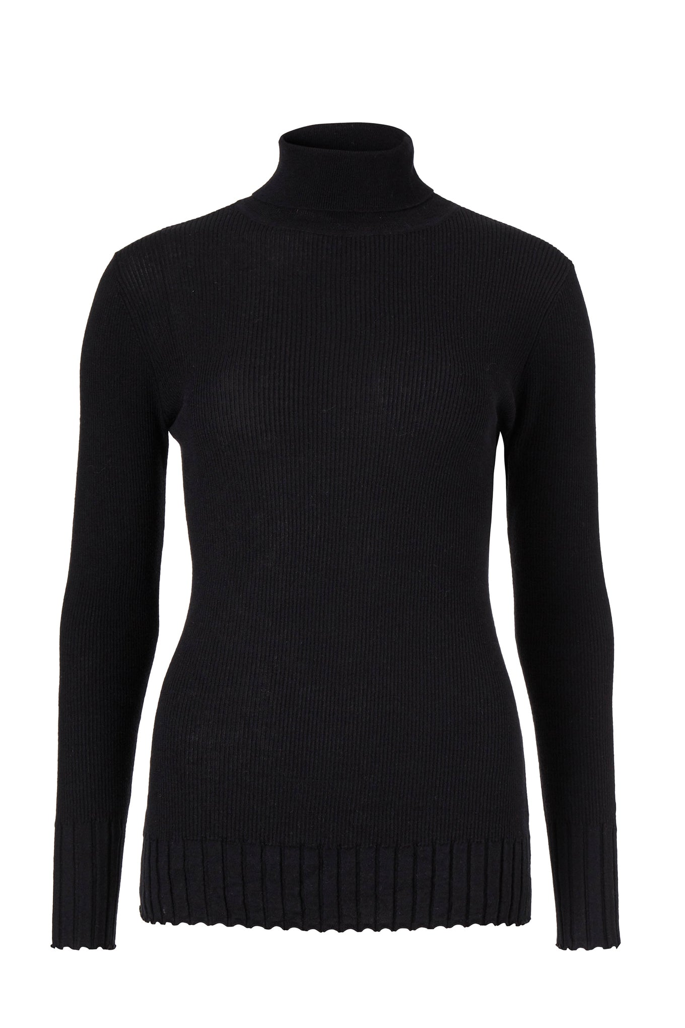 Meyer Turtleneck - Black - Silk/Wool