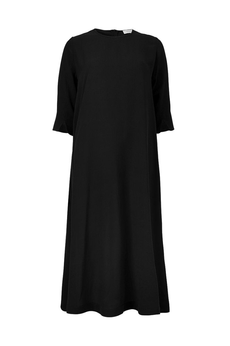 Aba Dress - Black - Silk/Linen