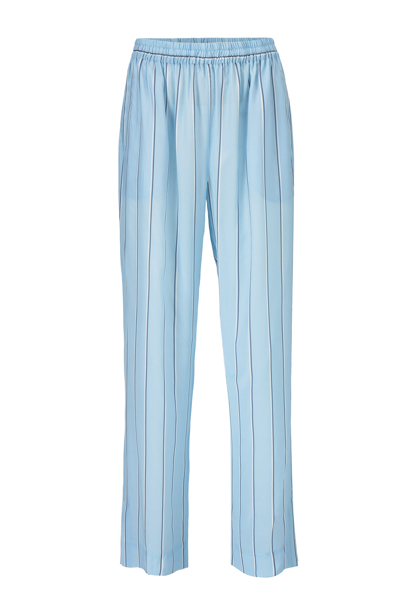 ELI SLIT PANTS - BLUE STRIPE