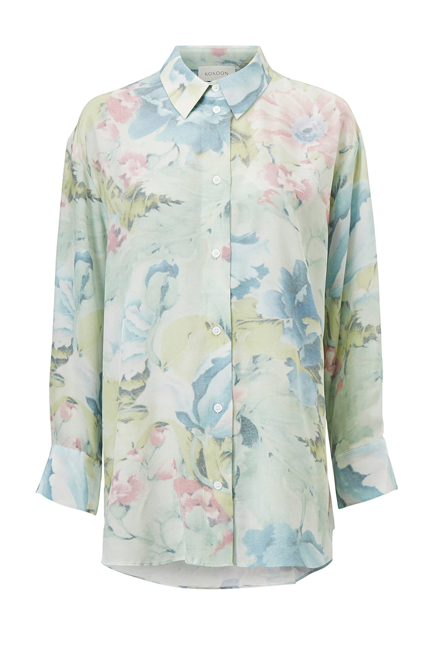 Eliza Shirt - Curtain Flower