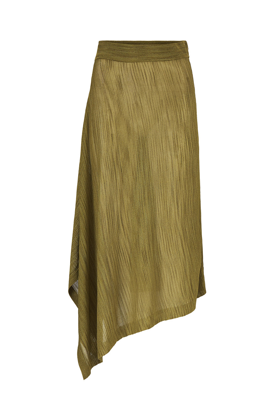 NINA KNIT SKIRT - UTILITY - SILK/LINEN/VISCOSE