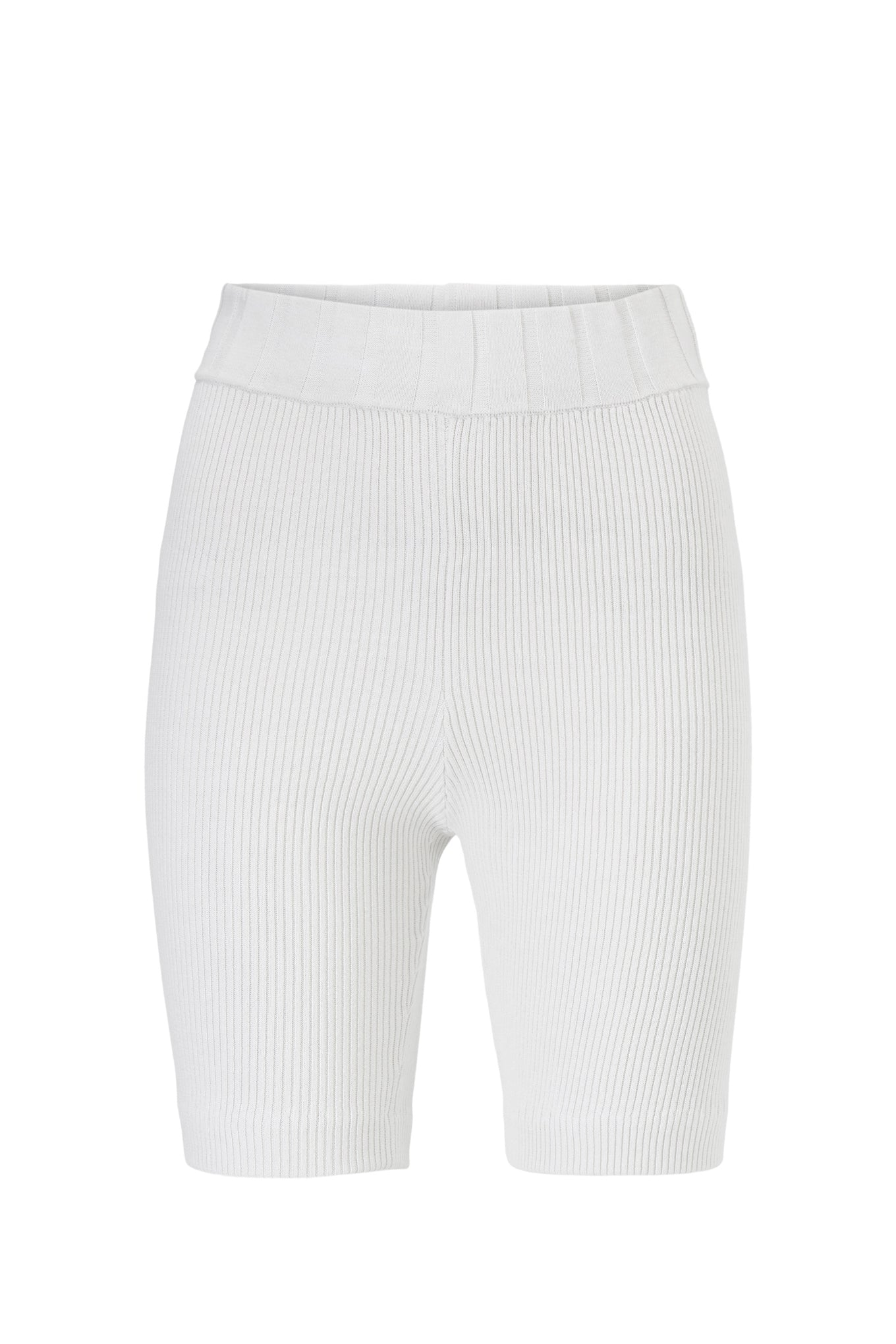 NIXON KNIT SHORTS - WHITE - SILK/COTTON