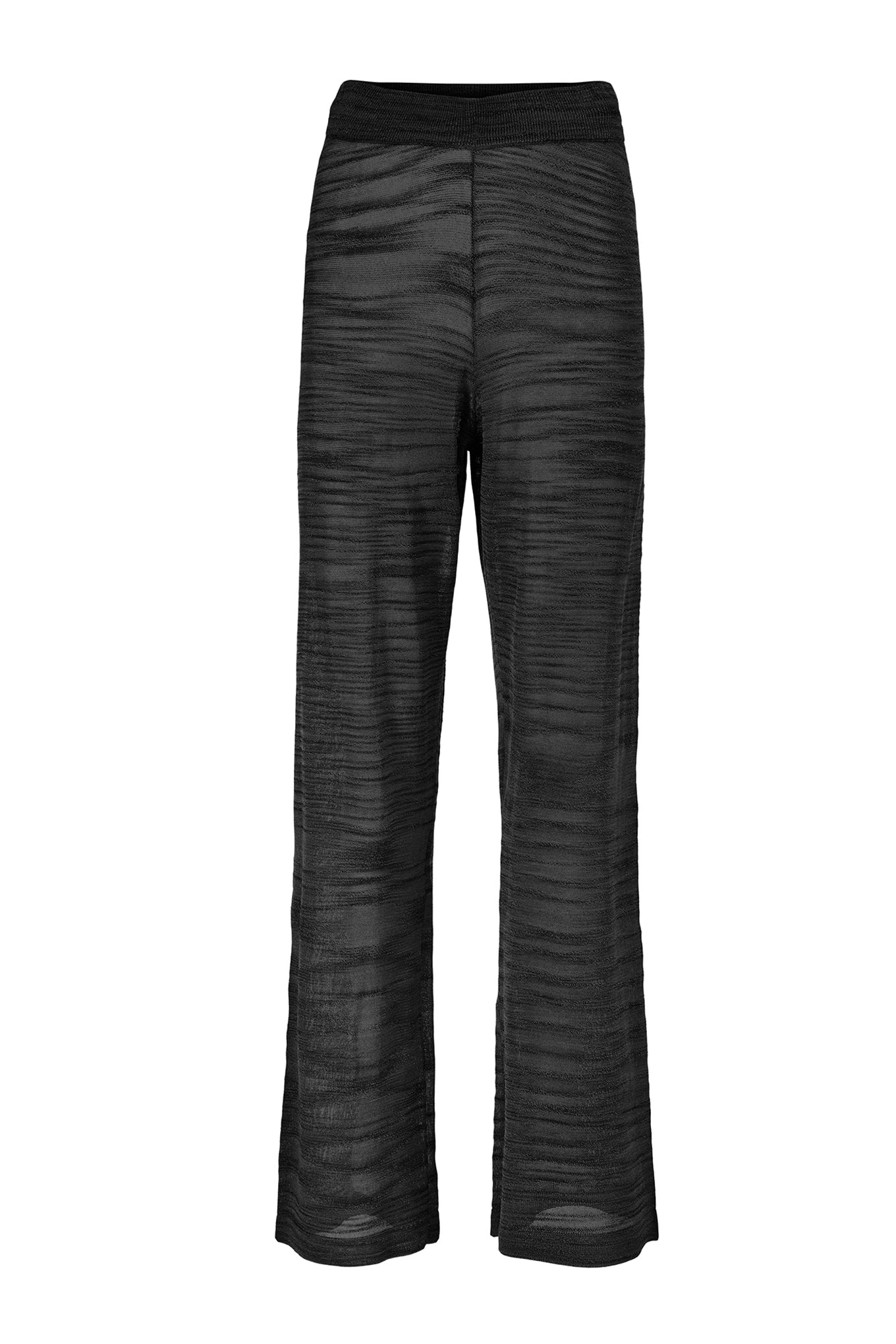 Sima Knit Pants - Black - Silk/Linen/Viscose