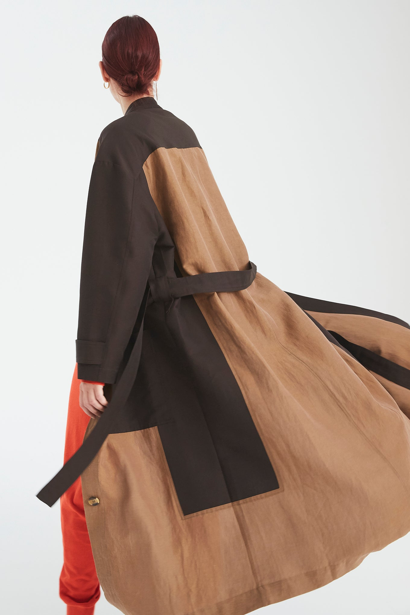 MATTI COAT - BROWN MIX - SILK/COTTON & SILK/LINEN