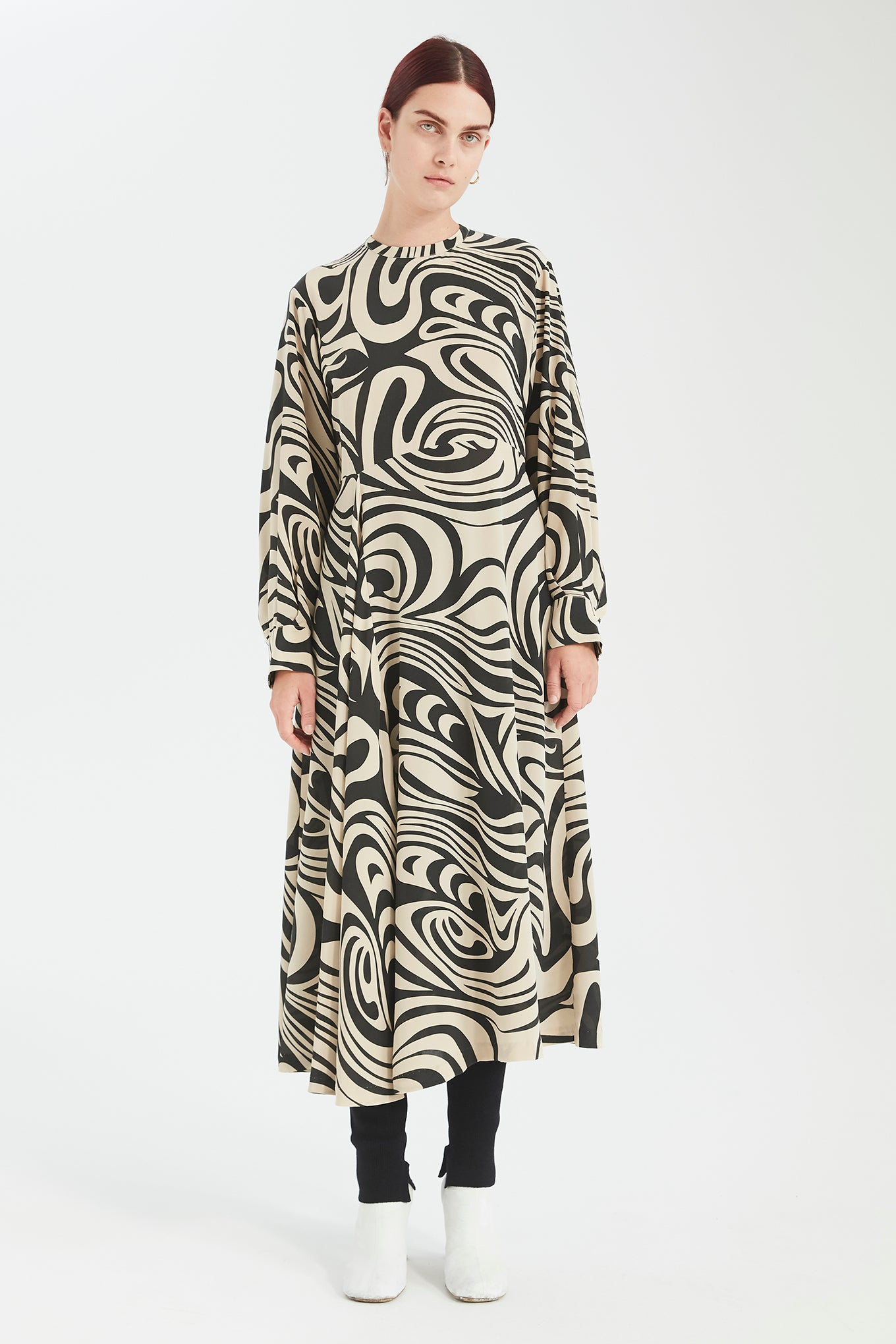 Miller Dress - Black Swirl