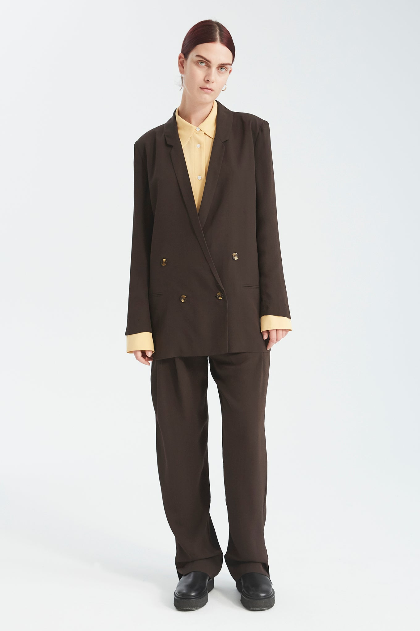 Oxford Blazer - Dark Brown